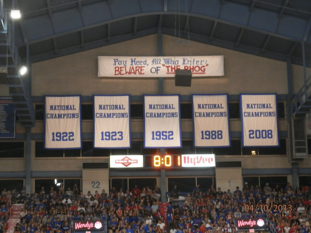 This is what the Jayhawks play for when March comes around (KEN DAVIS PHOTO)