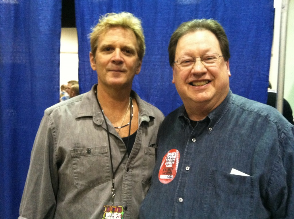 Curt Ramm of the E Street Horns and Ken Davis in the E Street Lounge (Nancy Davis photo)