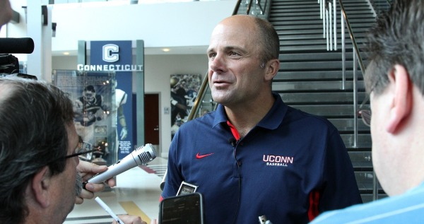 UConn coach Jim Penders answered questions from the media Monday. (Photo: UConn Athletics)