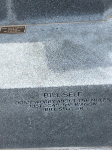 Self was visibly moved when he saw his father's quote etched in concrete at the Hall of Fame